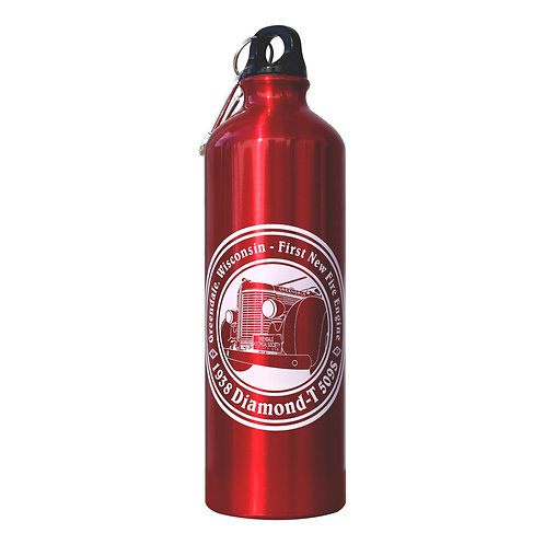 1938 Diamond-T - 26 oz. Aluminum Red Water Bottle