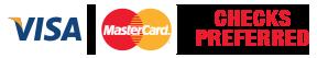 Checks - Visa - Mastercard accepted