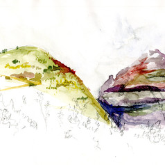 Carnet de voyage - Canaries - aquarelle