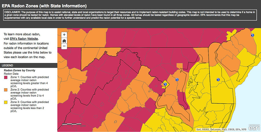EPA Radon Zones
