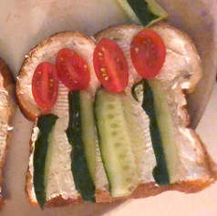 fruits and Veggie Toast Art