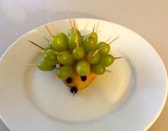 Hedgehog with Grapes