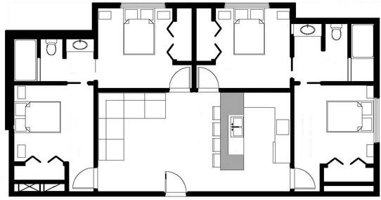 Wesley Dorm Floor Plan