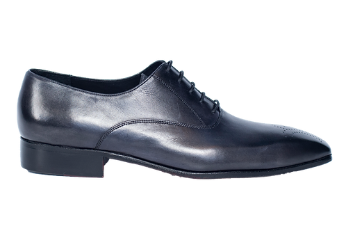 Grey smooth leather oxford