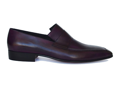 Smooth Leather Purple Loafers