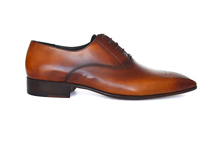 Caramel Brown smooth leather Oxford
