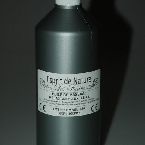 huile de massage relaxante aux huilles essentielles