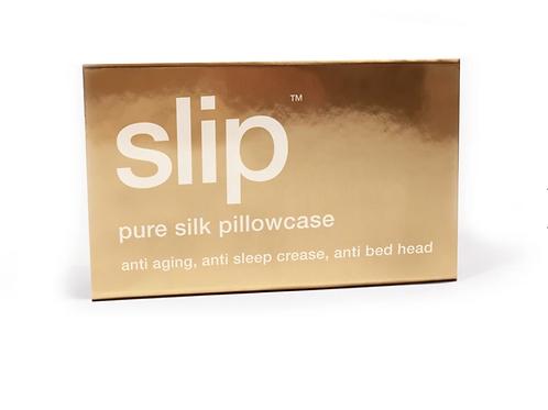 SilkSlip Gold Queen Pillowcase Zippered