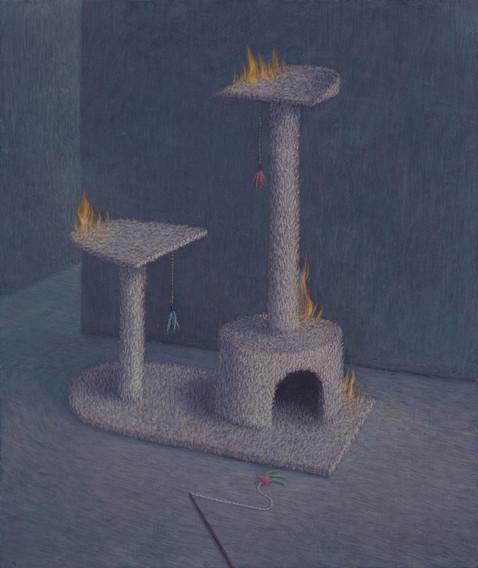 Burning Cat Tree
