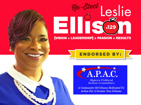 School Board Member Leslie Ellison Endorsed by Algiers Political Action Committee