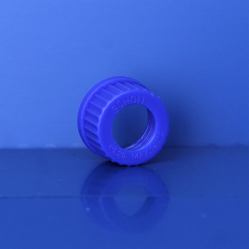 Cap, blue G25 with hole