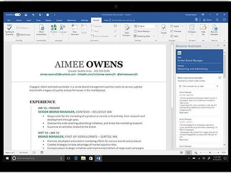 Microsoft Word: Νέα λειτουργία για να συντάξεις το βιογραφικό σημείωμά σου με τη βοήθεια του LinkedI
