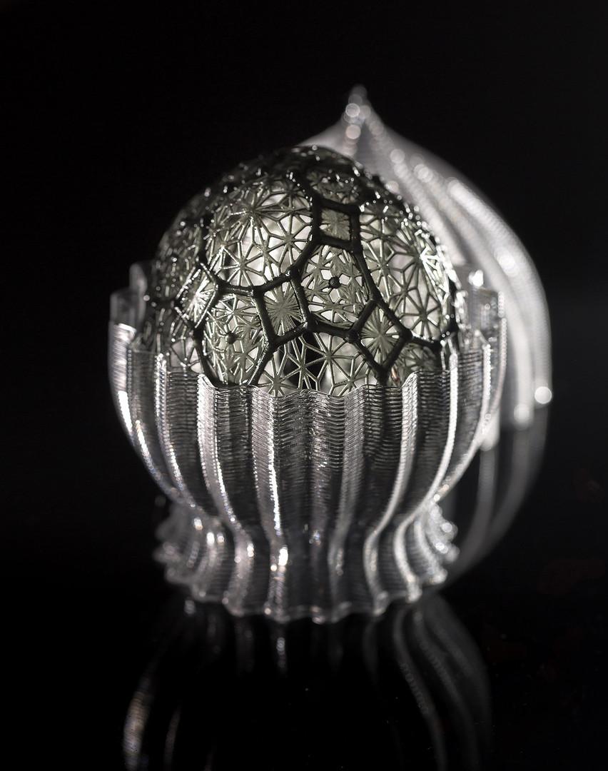 Modello Diamantino nero con guscio aperto