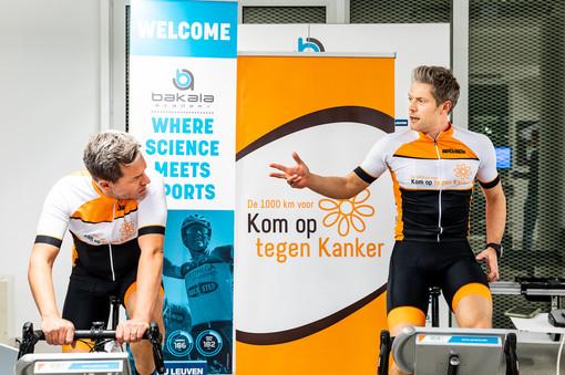 Fitness test voor de 1000km van Kom Op Tegen Kanker