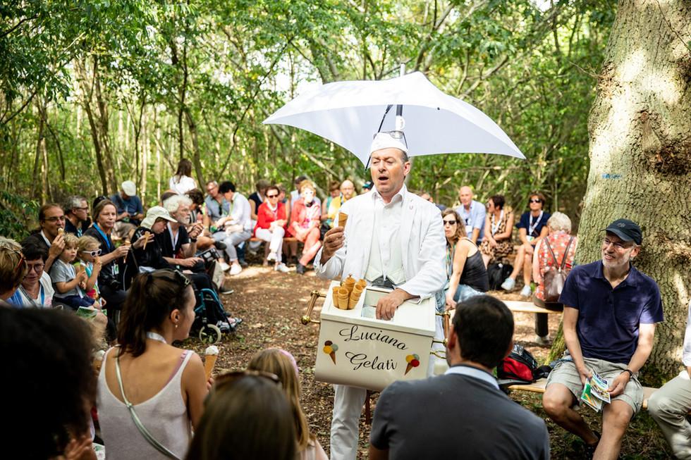 Luciano Gelato tijdens zomerfestival