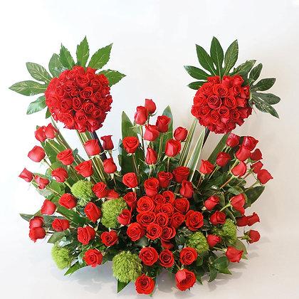 Rosas rojas forever