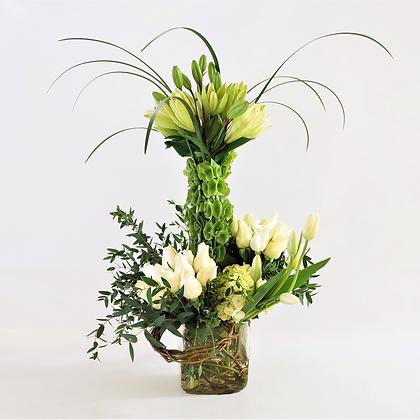 Arreglo flores blancas mixtas