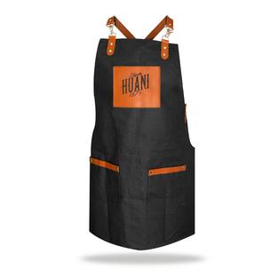 Crossed apron black