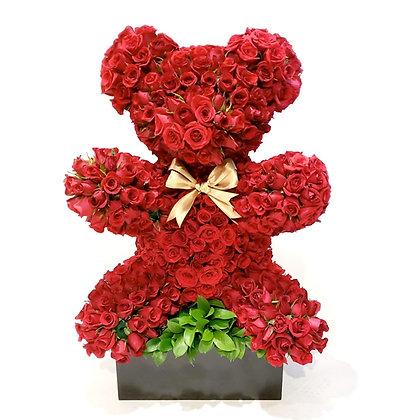 Oso floral 80 cm