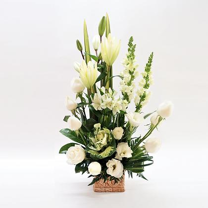 Flores blancas mixtas