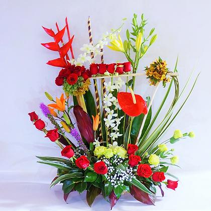 Flores rojas mixtas