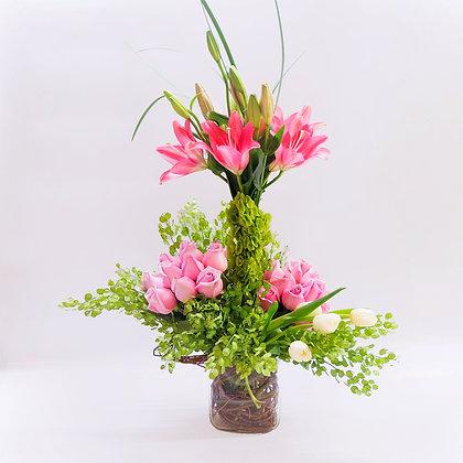 Arreglo flores mixtas rosas