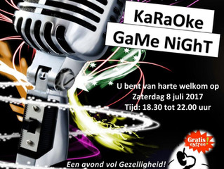 Karaoke / Game night 8 juli 2017