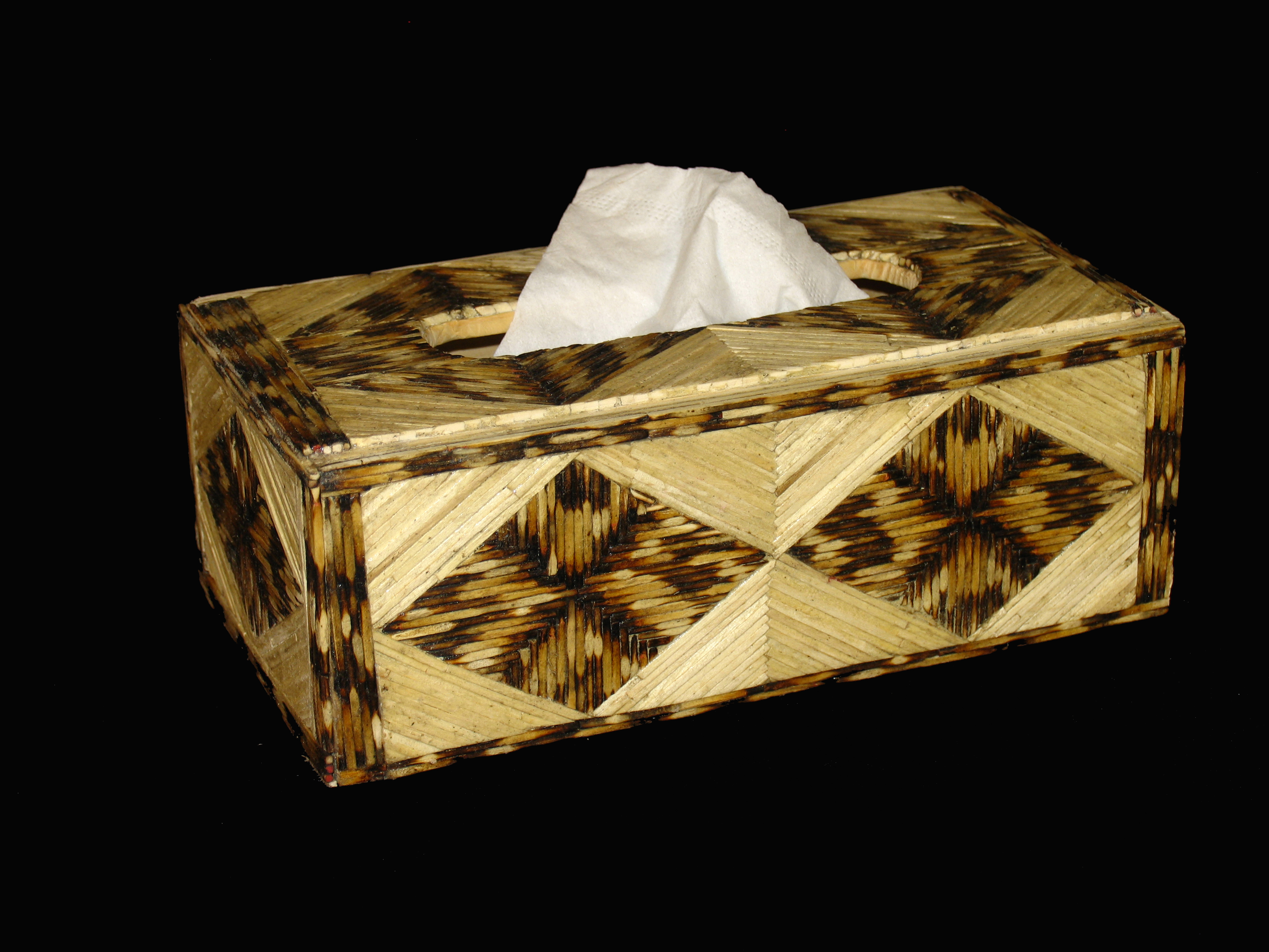 """Diamond"" Tissue Box Cover"