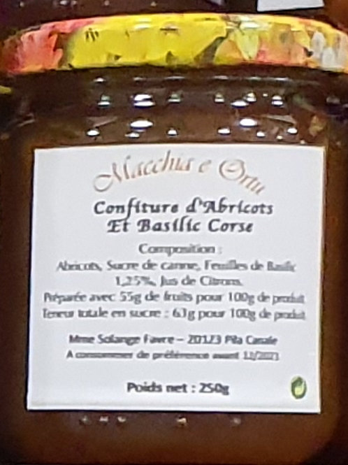 MACCHIA E ORTU - Confiture d'abricots et basilic