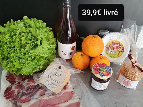 Panier à 39.90 euros livré