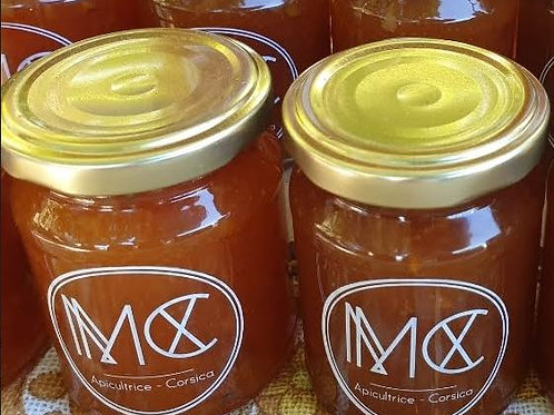 BOCCA - Confiture d'abricot corse, miel corse AOP & amande grillée