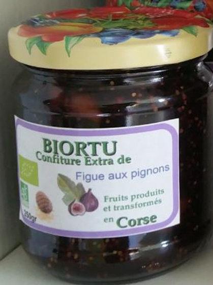 BIORTU - Confiture de figue aux pignons BIO