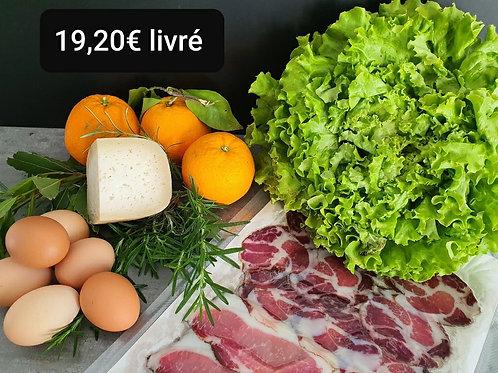 Panier à 19.20 euros livré