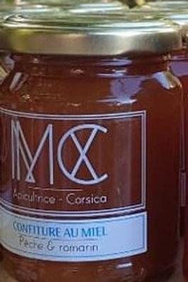 BOCCA - Confiture pêche corse, miel corse AOP & romarin du jardin