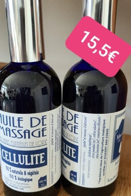 Huile massage cellulite