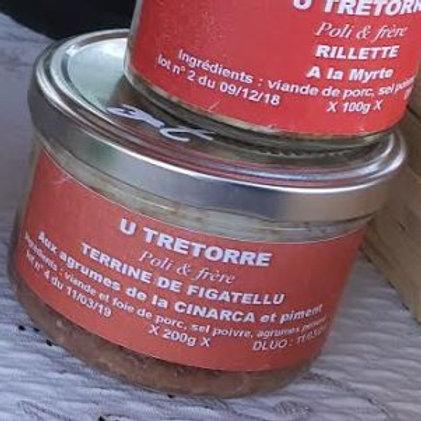 U TRETTORE - Terrine de figatellu aux agrumes (200gr)
