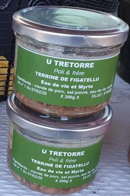 "U TRETTORE - Terrine de figatellu ""eau de vie et myrte"" (200gr)"
