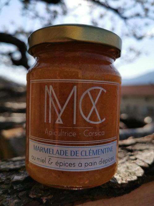 BOCCA - Confiture de clémentine corse, miel corse AOP & épices à pain d'épices