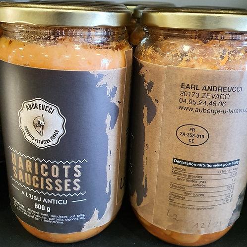 ANDREUCCI - Haricots saucisses (800gr)