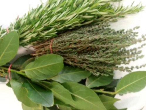 Bouquet thym, laurier,et romarin frais