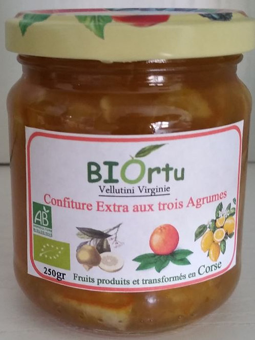 BIORTU - Confiture aux trois agrumes