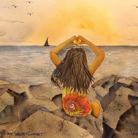 Jerry Art Megan's Key West Sunset.jpg