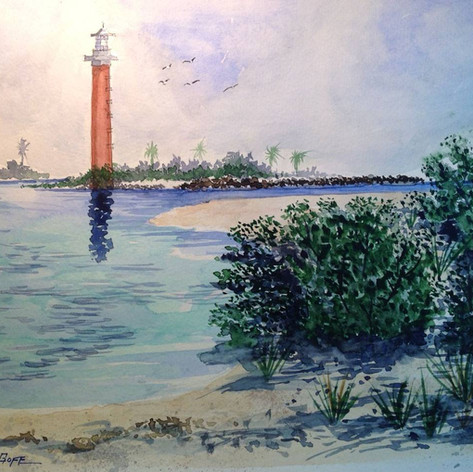 Jerry Art Ponce Inlet and lighthouse.jpg
