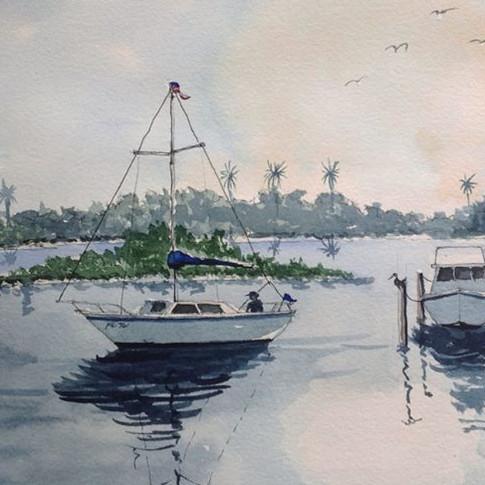 Jerry Art NSB Marina and boats.jpg
