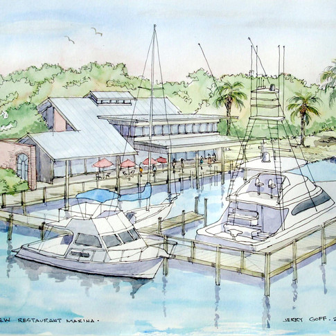 Jerry Art Riverview Grille Marina Flagle