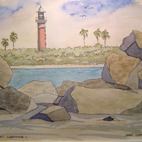 Jerry Art  NSB Jettyand lighthouse.jpg