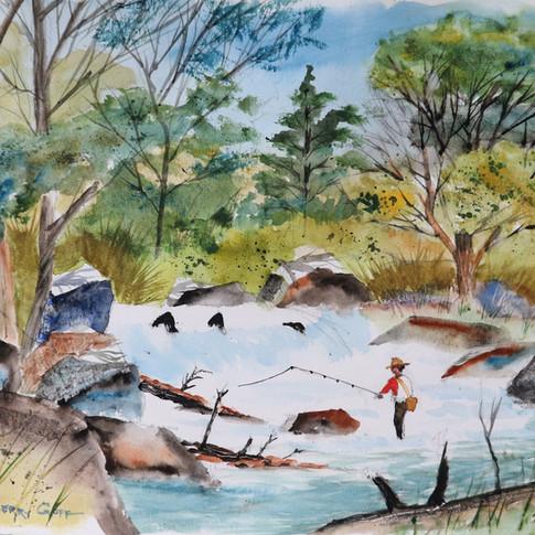 Jerry Art Fishing at the Falls.jpg