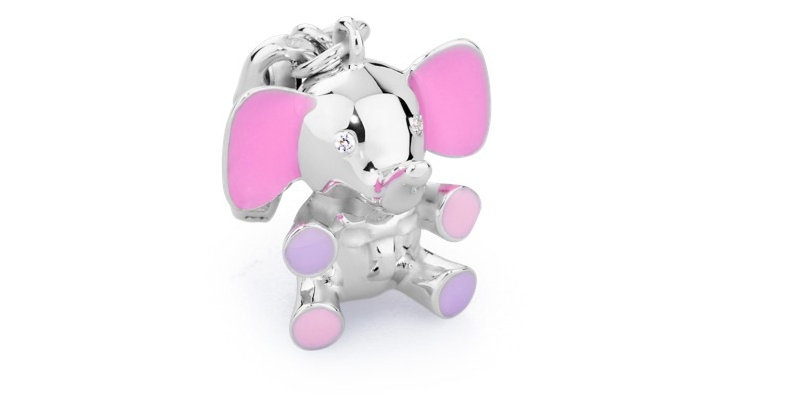 ROSATO Charm Elefante Rosa My Baby BB004