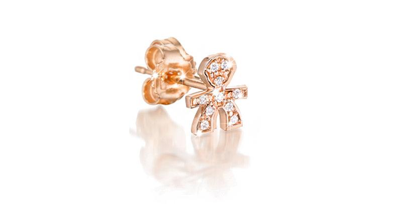 LE BEBÉ Mono orecchino Le Briciole maschietto in Oro con Pavè LBB331