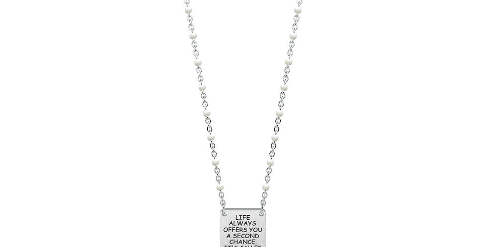 """KIDULT collana """"philosophy"""" 751048   Life always offers you a second chance....."""